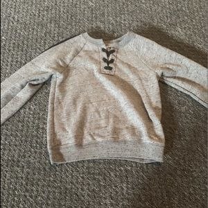 gray abercrombie kids sweater